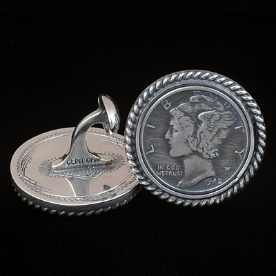 ANGELINA MERCURY DIME CUFF LINKS