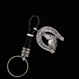 HORSE IN HORSESHOE KEY CHAIN