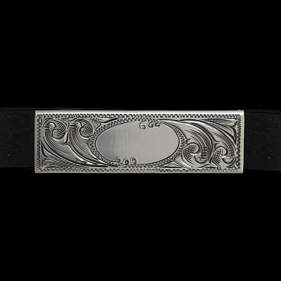 RUBBER BAND ENGRAVED MONEY CLIP