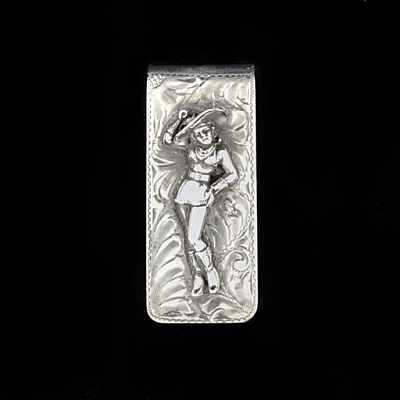MISS RODEO STERLING SILVER MONEY CLIP