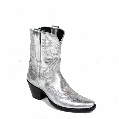 ANNIE OAKLEY SILVER BOOTS 7