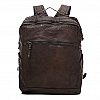 ZIP FRONT LEATHER BACKPACK IN MORO