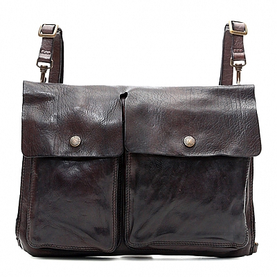 TWO POCKET FRONT LEATHER DOCUMENT HOLDER PROFESSIONAL BAG