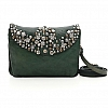 MULTI STUD FLAP SMALL CROSS BODY POUCH  IN BOTTIGLIA