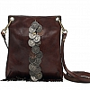 VERTICAL CROSSBODY POUCH WITH COIN RIBBON IN MORO
