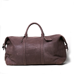 MIAMI TRAVEL DUFFEL IN GREY NABUK