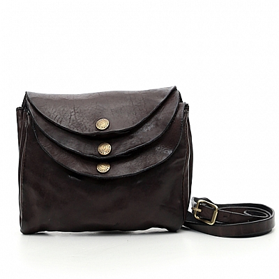 MEDIUM TRIPLE SNAP LEATHER CROSSBODY POUCH IN GIRGIO