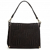 OPTICAL WOVEN LEATHER MEDIUM CROSSBODY BAG IN MORO