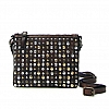MORO LEATHER CROSSBODY SATCHEL WITH STUDS