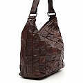 MORO PATCHWORK LEATHER SHOULDER TOTE