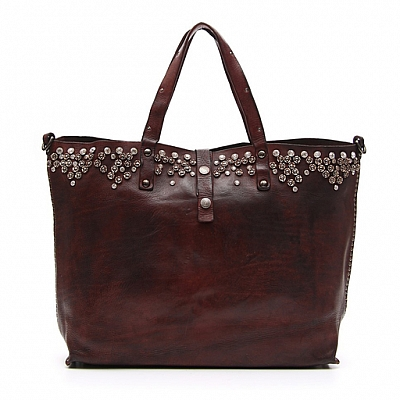 MORO STUDDED SHOULDER TOTE