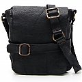 SM SHOULDER SATCHEL IN BLACK