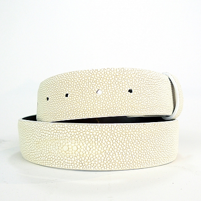 "CREAM STINGRAY 11/2"" BELT"