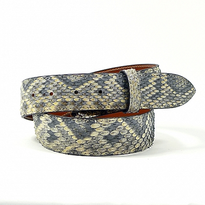"NATURAL RATTLESNAKE 1 1/2"" BELT"