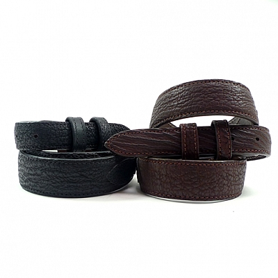 TAPER SHARK SKIN BELT