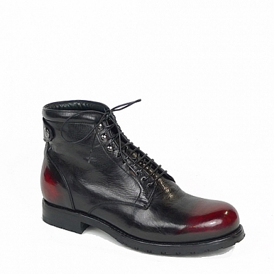 BLACK RANCH FUOCO TOE LACE UP BOOTS