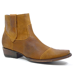 HAWK SHORT ZIP BOOT IN OCHRE