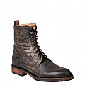 LIAM GIANT ALLIGATOR & GOAT LACE UP BOOT