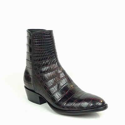 MEN'S BLACK CHERRY AMERICAN ALLIGATOR ZORRO