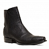 MEN'S BLACK RINGTAIL LIZARD ZORRO ZIP BOOTS