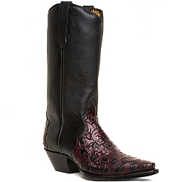 MENS 42 MUERTOS BOOTS IN VINO AND BLACK