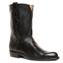 MENS BUFFALO CALF ROPER BOOTS IN BLACK