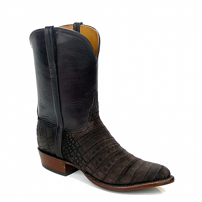 MENS CHOCOLATE SUEDED BELLY CAIMAN RANCH