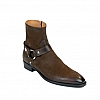ZACH ZIP MOTO HARNESS BOOT IN CHOCOLATE