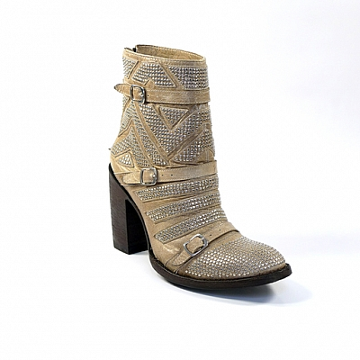"OLD GRINGO CELINE 7"" BONE STUDDED BOOT"