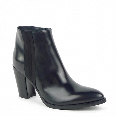 CONSTANCE NAVY SIDE ZIP DRESS BOOTIE