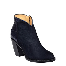 JENNA NAVY PONY AND CROC BOOTIE