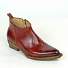 MILLICIENT BASSO ZIP  BOOT IN WINE RED CUOIO LEATHER