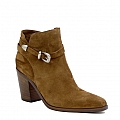 MINA MAPLE VELOUR SUEDE BELTED HIGH HEEL BOOT