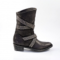 QUEENTIA SHORT BLACK STUDDED BOOT