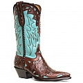 WOMENS FLORE CHALE BOOTS IN TURQUOISE