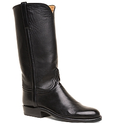 WOMENS FLORENCE CALFSKIN BOOTS IN BLACK