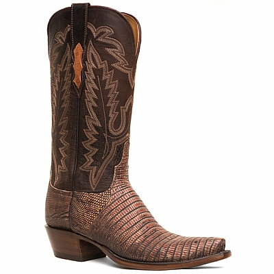 WOMENS LIZARD BOOT IN BARK