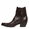 WOMENS LIZARD ZORRO ZIP BOOTS IN CHOCOLATE