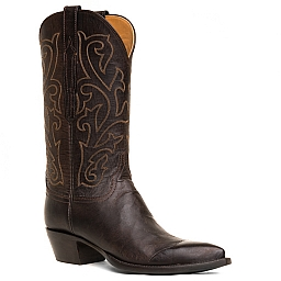 WOMENS MAD DOG TOE CAP BOOT IN CHOCOLATE