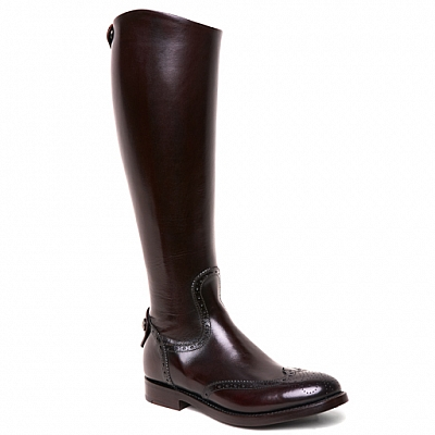 WOMENS MAYA 31051 WINGTIP ZIP RIDING BOOTS