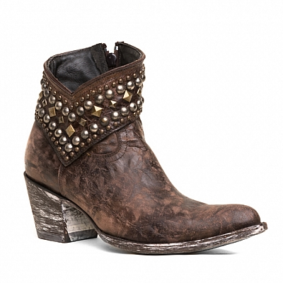 WOMENS MINI BELINDA ANKLE BOOTS IN CHOCOLATE