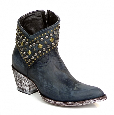 WOMENS MINI BELINDA ANKLE BOOTS IN BLUE
