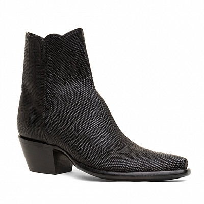 WOMENS RINGTAIL LIZARD ZORRO ZIP BOOTS IN BLACK