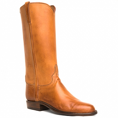 WOMENS TALL CALFSKIN BOOTS IN HONEY RANCH
