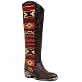WOMENS TALL TELA ELINA BOOTS IN CHOCOLATE