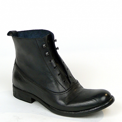 WOMENS TUFFATO LACELESS ANKLE BOOTS IN NERO