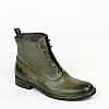 WOMENS TUFFATO LACELESS LEATHER ANKLE BOOTS IN MILITARE