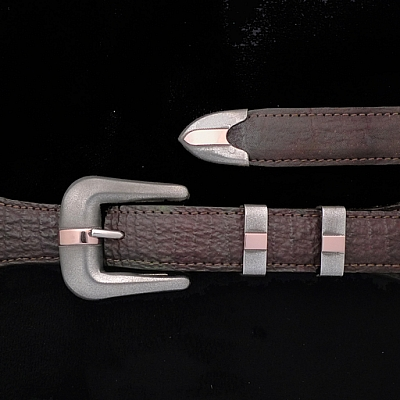 BIG SUR BUCKLE SET WITH ROSE GOLD SMOOTH BAR