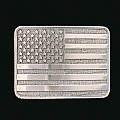 AMERICAN FLAG TROPHY BUCKLE WITH ROPE EDGE