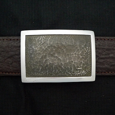 ANTIQUE STERLING SILVER RECTANGLE TROPHY BUCKLE